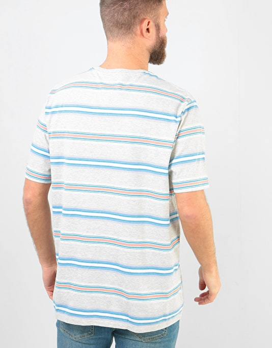 Patagonia Squeaky Clean Pocket T-Shirt - Tarkine Stripe: Tailored Grey