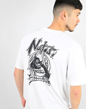 Santa Cruz Natas Evil Cat T-Shirt - White