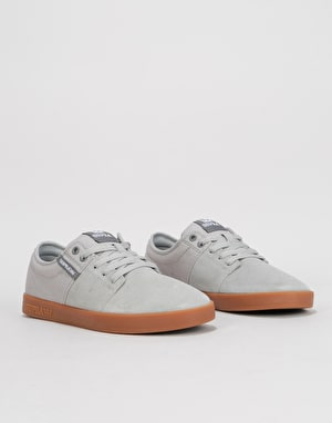 Supra Stacks II Skate Shoes - Light Grey/Grey/Gum
