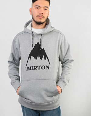 Burton Oak Pullover Hoodie - Monument Heather
