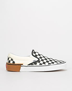 Vans Classic Slip-On Skate Shoes - (Gum Block) Checkerboard