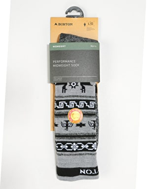 Burton Performance Midweight Snowboard Socks - True Black Heather