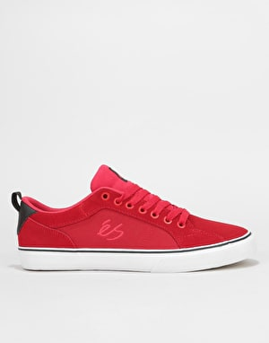 éS Aura Vulc Skate Shoes - Red
