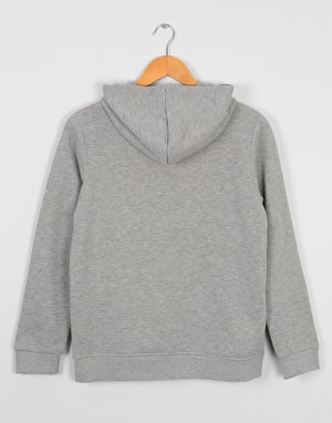 Element Bark Logo Boys Pullover Hoodie - Grey Heather