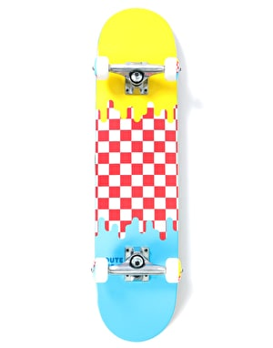 Route One Check Drip Complete Skateboard - 7.5
