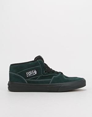 Vans Half Cab Skate Shoes - (Black Outsole) Darkest Spruce/Black