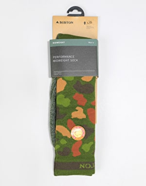 Burton Performance Midweight Snowboard Socks - Forest Duck