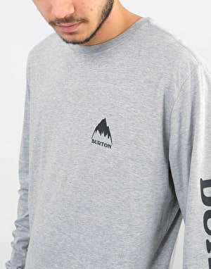 Burton Elite L/S T-Shirt - Grey Heather