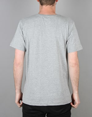 Route One Basic T-Shirt- Grey Marl