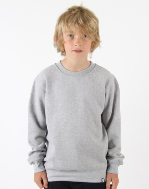 Route One Boys Basic Crewneck Sweat - Heather Grey