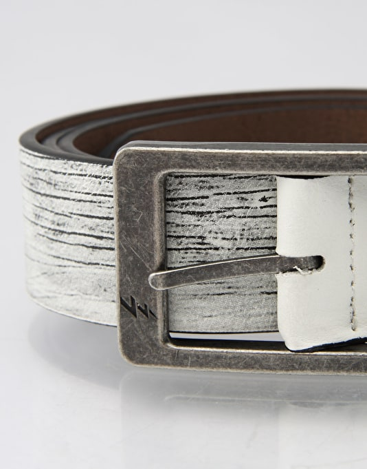 Lowlife Ash Reversible Belt - White/Brown