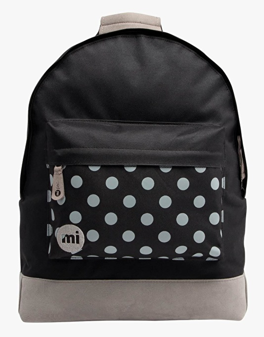 Mi-Pac Polka Dot Backpack - Black/Grey