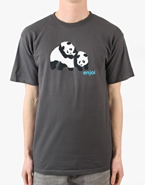 Enjoi Piggyback Panda T-Shirt - Charcoal