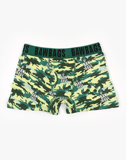 Bawbags Wood Camo Boxer Shorts