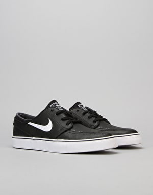 Nike SB Zoom Stefan Janoski L Skate Shoes - Black/White-Wolf Grey