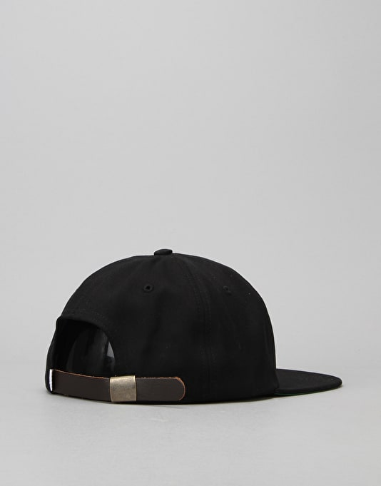 HUF x Chocolate Forever 6-Panel Cap - Black