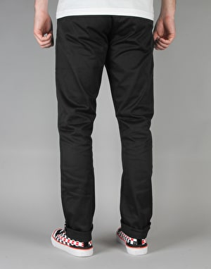 HUF x Chocolate Selvedge Chino - Black