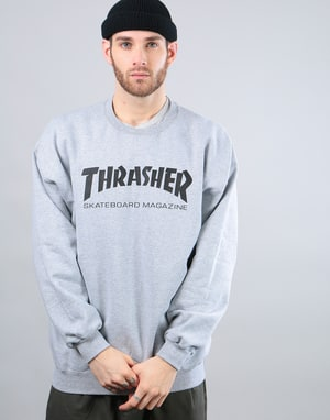 Thrasher Skate Mag Crewneck Sweat - Heather Grey
