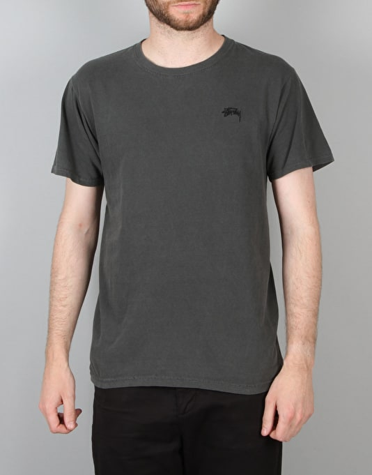 Stüssy Small Stock Embroidery T-Shirt - Black