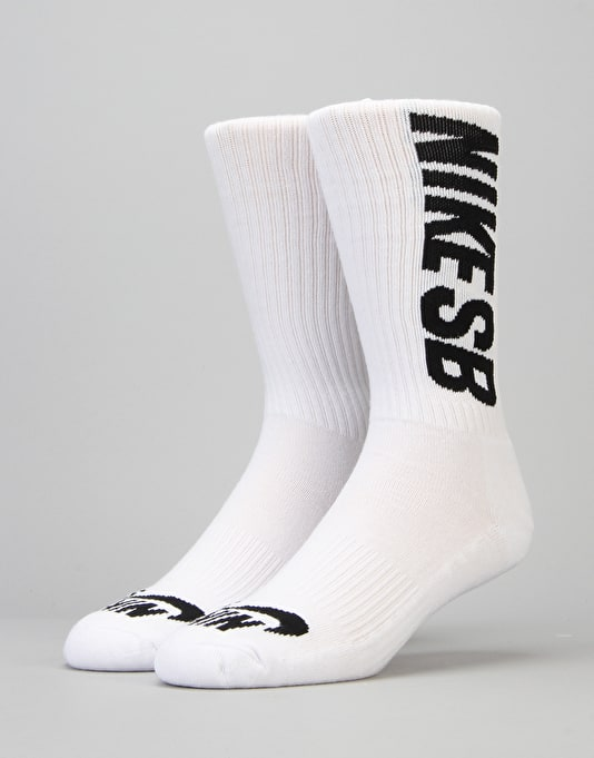 Nike SB Crew Socks 3 Pack - White/Black