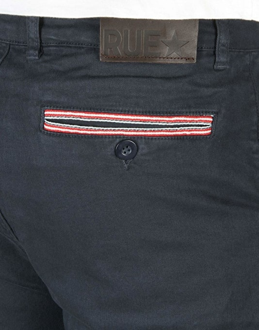 Route One x RUE Premium Chino Shorts - Navy