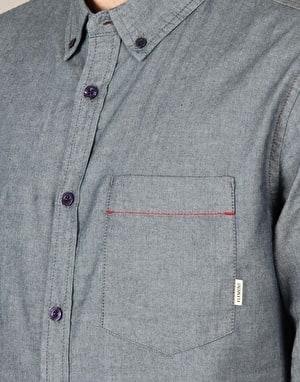 Element Coopper Long Sleeve Shirt - Indigo Blue