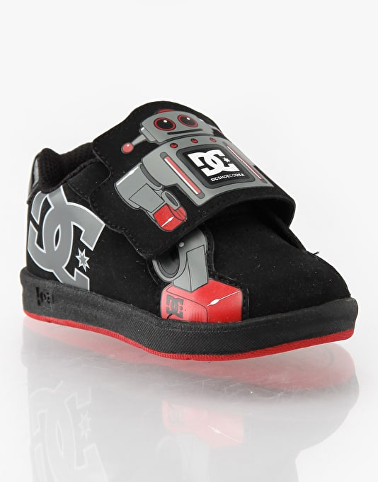 DC Charade Robot UL Toddlers Skate Shoes - Blk/blue