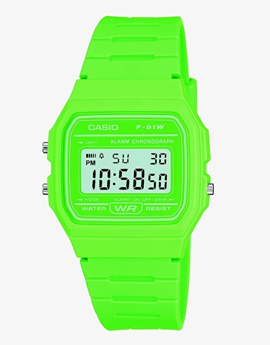 Casio F-91WC-3AEF Watch - Green