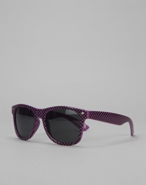 Route One Check Wayfarer Sunglasses - Purple/Black