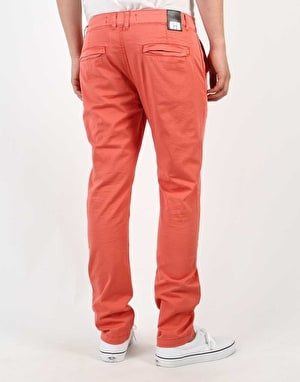 Route One Slim Fit Chinos - Salmon