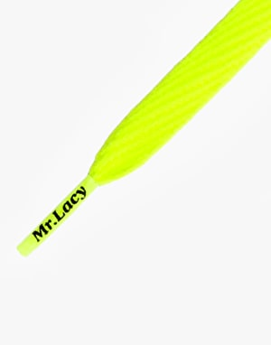 Mr. Lacy Flatties Laces - Neon Yellow
