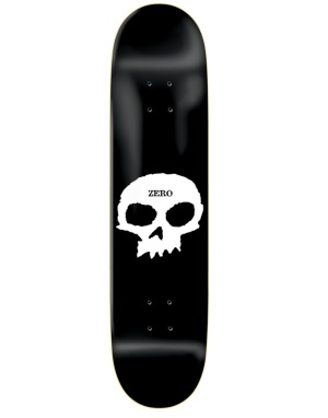 Zero Single Skull Skateboard Deck - 8.25