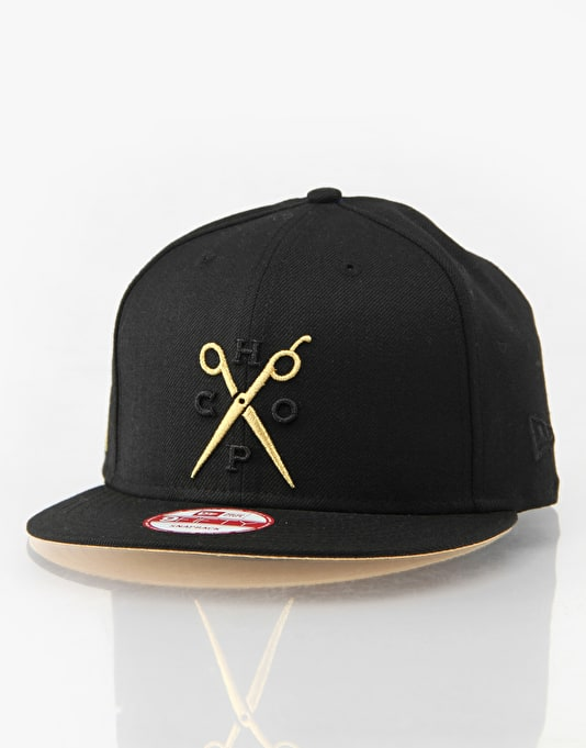Franks Chop Shop Gold Scissors New Era Snapback Cap