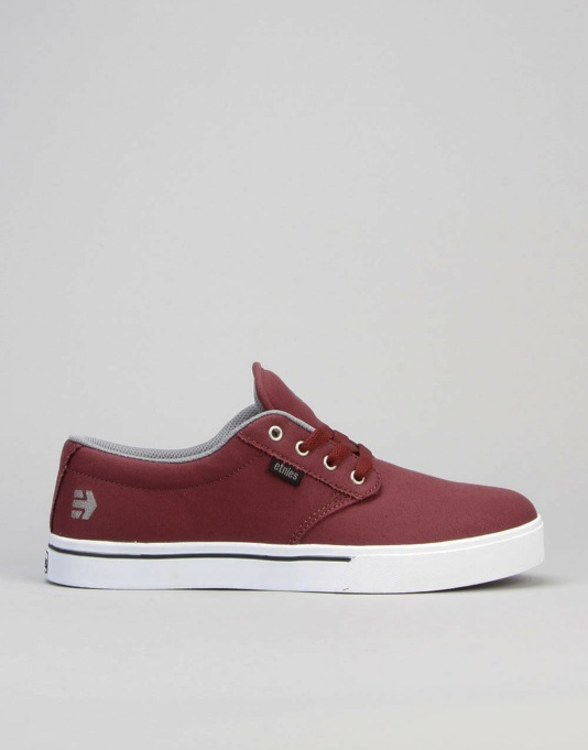 Etnies Jameson 2 Eco Skate Shoes - Red/Grey/Black