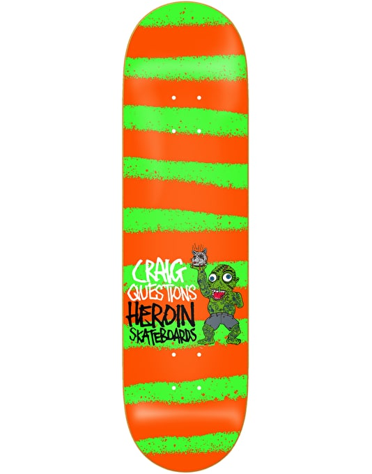 """Heroin Questions Striped Icon Pro Deck - 8.44"""""""