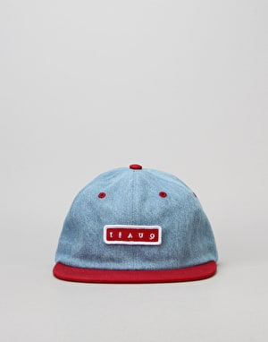 Quasi Bobby 6 Panel Cap - Denim/Red