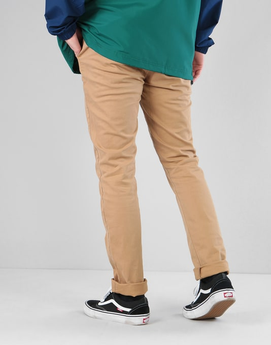 Route One Slim Fit Chinos - Khaki