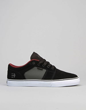 Etnies Barge LS Skate Shoes - Black/Charcoal/Red