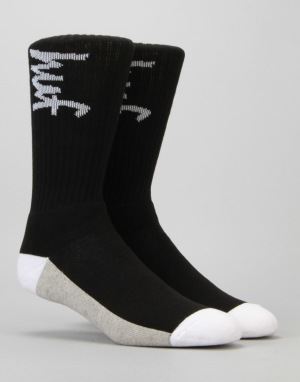 HUF x Chocolate Crew Socks - Black