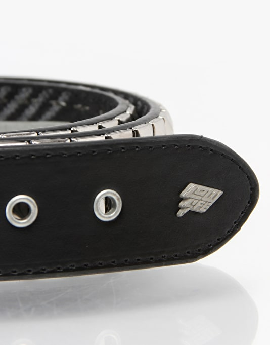 Lowlife Triple S Belt - Textured Black/Silver