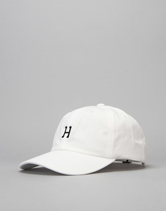 HUF Classic H Curved Brim 6 Panel Cap - White/Black