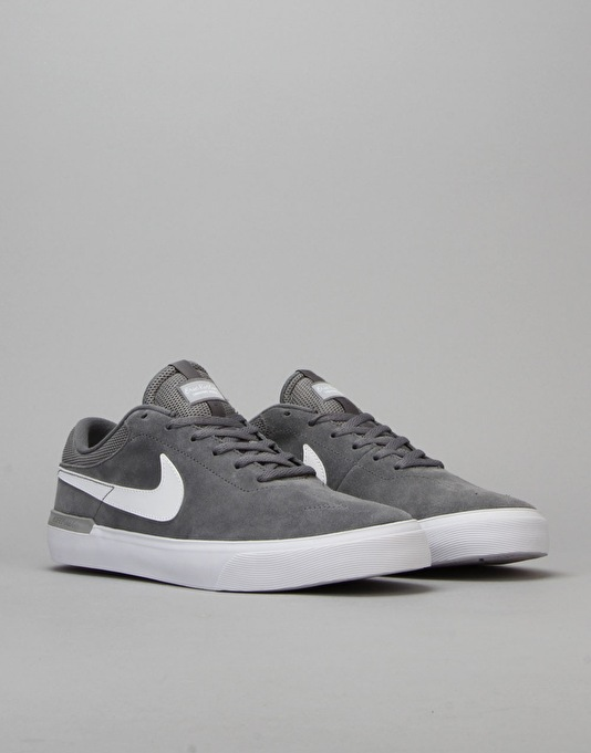 Nike SB Koston Hypervulc Skate Shoes - Cool Grey/White-Wolf Grey