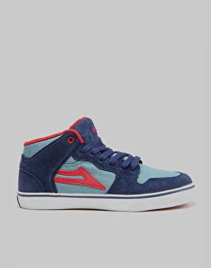 Lakai Carroll Select Boys Skate Shoes - Blue/Red Suede