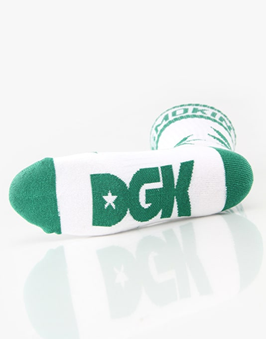 DGK Stay Smokin Socks - White/Green