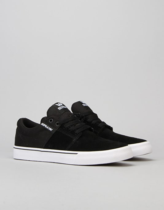 Supra Stacks Vulc II Skate Shoes - Black/White