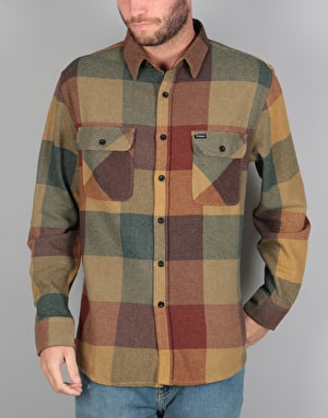 Brixton Bowery L/S Flannel Shirt - Rust/Copper