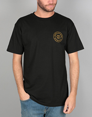 Brixton Oath S/S T-Shirt - Black/Copper