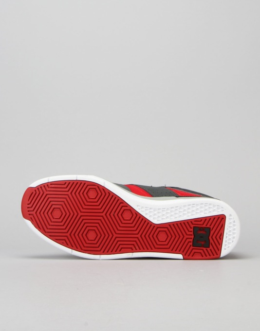 DC Maddo Skate Shoes - Grey/Red/White
