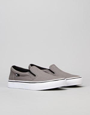 DC Trase Slip-On Boys Skate Shoe - Grey/Black/White