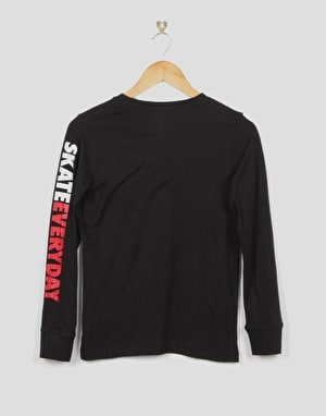 Nike SB Our Skate Park Long Sleeve Boys T-Shirt - Black